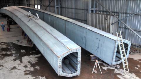 First steel piece set for Margaret McDermott Bridge