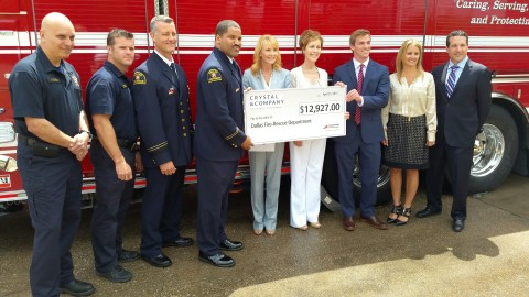 Paying it forward: local company's donation aids firefighter training need