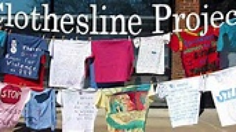 Love Field Clothesline Project supports Paint the Town Purple initiative