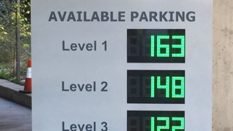 Electronic parking information at Love Field will guide travelers before they get to the airport