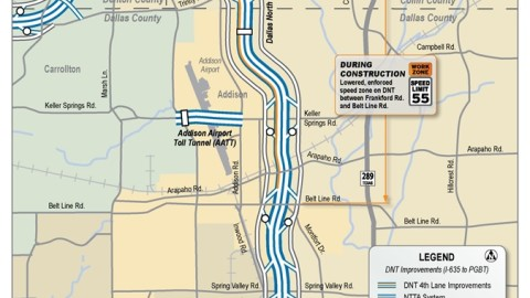 Long-term closure of Trinity Mills Road on-ramp to Dallas North Tollway delayed