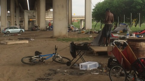 "Video: Metro Dallas Homeless Alliance on track to clear out ""Tent City"""