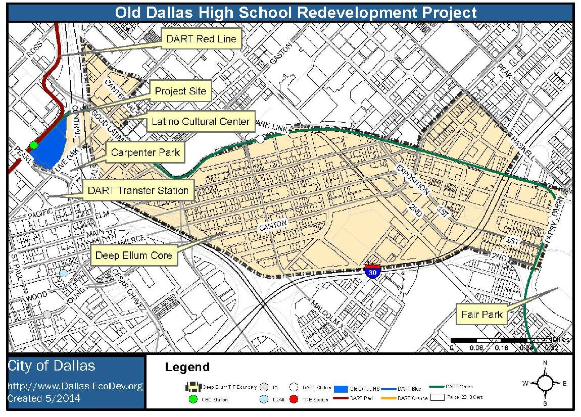 Old Dallas Map.Old Dallas High School Redevelopment Project Going To Council April