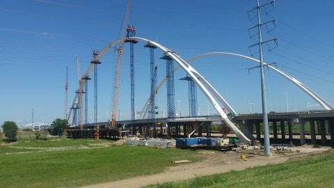 Margaret McDermott Bridge twin arches are now complete