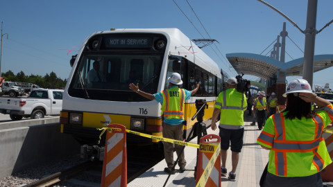 DART test drives newly constructed rail line