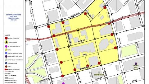 Downtown Dallas traffic update