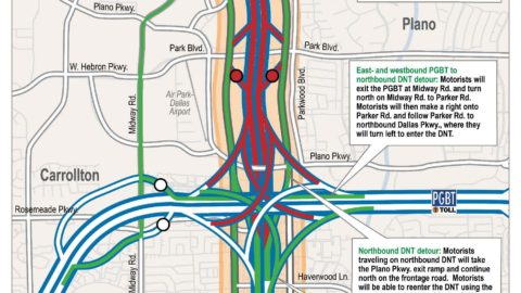 Parts of Dallas North Tollway to be closed overnight Friday