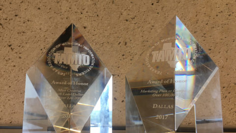City of Dallas Public Information Office receives two TAMIO awards