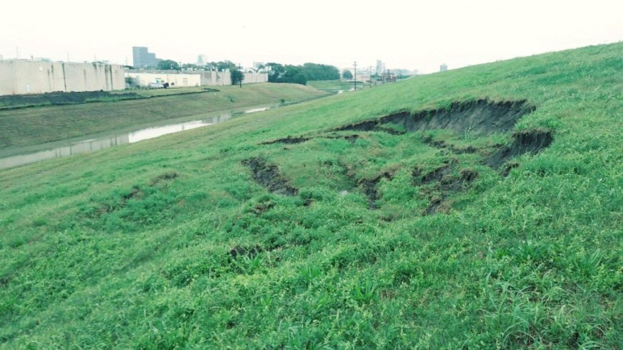 Levee slides are natural byproduct of heavy rain