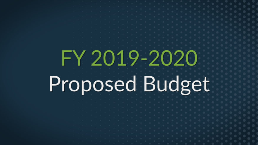 FY 2019/20 Proposed Budget – Service First