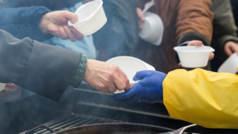 Provisions for feeding those experiencing homelessness