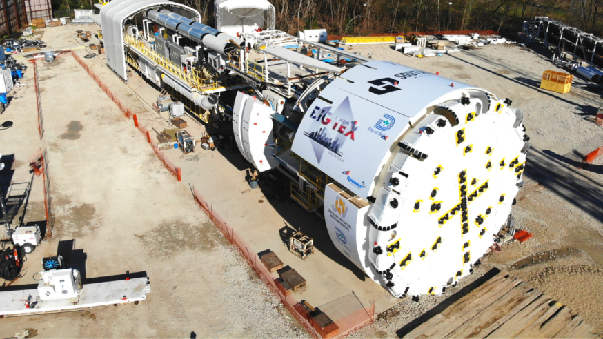 World's largest hard rock water tunnel boring machine debuts in Dallas