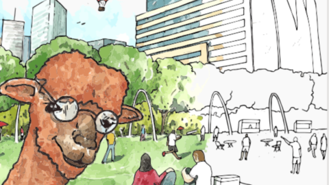 Meet Paul the Planning Alpaca, Planning and Urban Design's new mascot