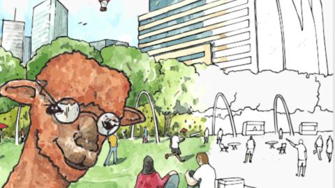 Meet Paul the Planning Alpaca, Planning and Urban Design's new mascot