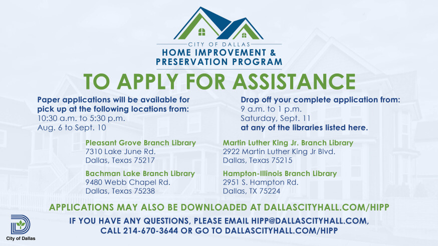Home Improvement and Preservation Program opens applications